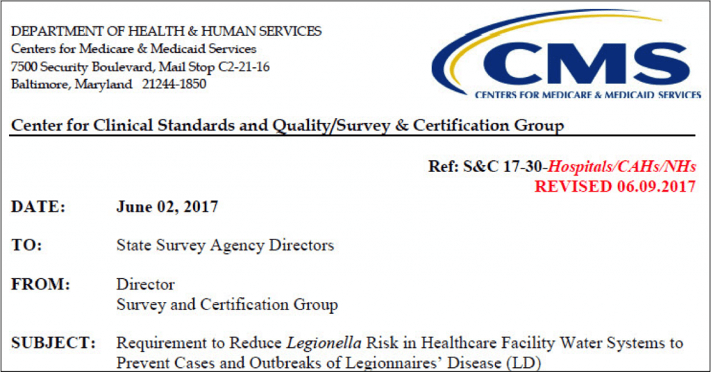 CMS Legionella Requirement - Inspecting Hospitals and Nursing Homes for the CMS Legionella