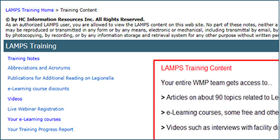 Built-In Training Notes and Videos