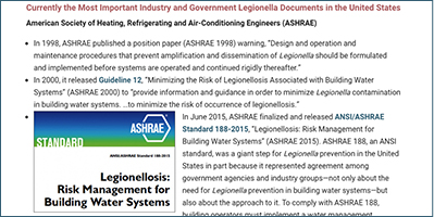 Content per ANSI/ASHRAE Standard 188
