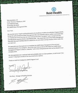 Letter from Reid Health
